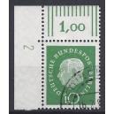 Mi. Nr. 183 Eckrand links oben mit Dz 2 gestempelt