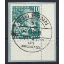 Mi. Nr. 111 Eckrand rechts unten mit Ersttagsstempel auf Briefstück