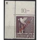 Mi. Nr. 34 Eckrand links oben postfrisch mit Plattennummer 3 spiegelverkehrt