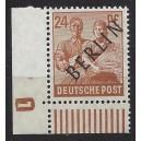 Mi. Nr. 9 im Eckrand links unten mit neg. Druckerzeichen 1  postfrisch