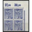 Mi. Nr. 51 Eckrandviererblock rechts oben