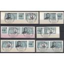 WZd 9-14 Mi. Nr 1537/38 gestempelt auf Briefstücken