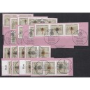 WZd 15 - SZd 8 Mi. Nr 1546-49 gestempelt auf Briefstücken